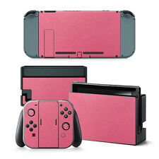AU Pink Leather Sticker Skin Decal For Nintendo Switch NS NX Console & Joy-con