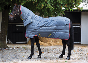 Horseware Amigo Insulator Combo Heavy Stable Rug - Grey Purple Yellow