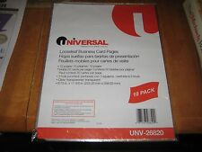 Universal Business Card Binder Pages 20 Cards Letter Page Clear 10ct 3 Pack