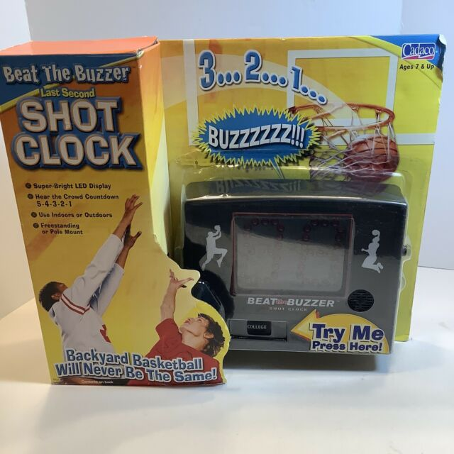 Cadaco Countdown Timer Counter Digital Electronic Basketball Shot Clock W/mount