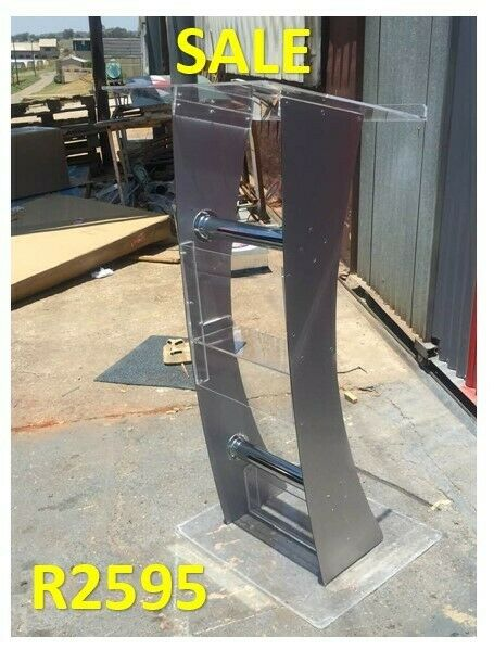 Curved Silver Grey  Leg Pulpit