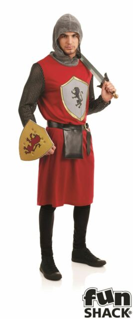 Adult Medieval King Wig Brown Mens Knight Arthur Fancy Dress Costume Accessory
