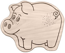 Pensione Bambini Piastre Tagliere Forma Animale Bordo Di Disegno Motivo: Maiale