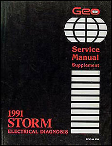 1991 geo storm electrical diagnosis manual wiring diagram book 91 schematics  | ebay  ebay