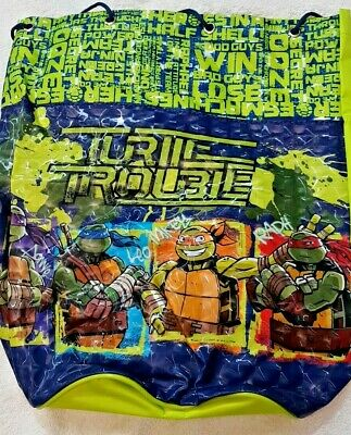 Teenage Mutant Ninja Turtles Tartarughe Sacca Mensa Sport 36x38cm - Coriex Nuovo Asciugare Senza Stirare