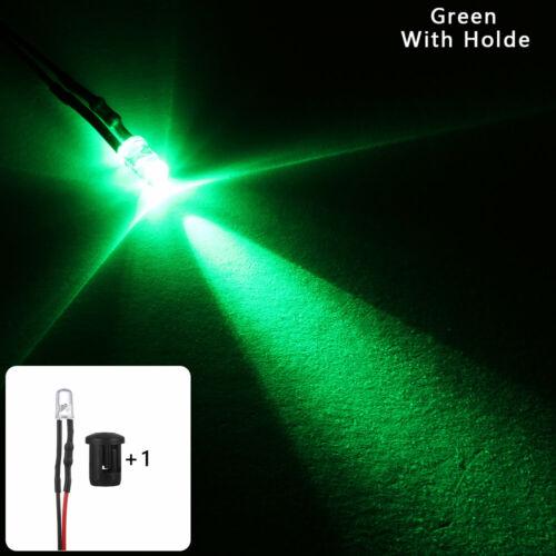 Plastic Holder Round 12V 5mm LED Light multi-color Emitting Diode Pre-Wired