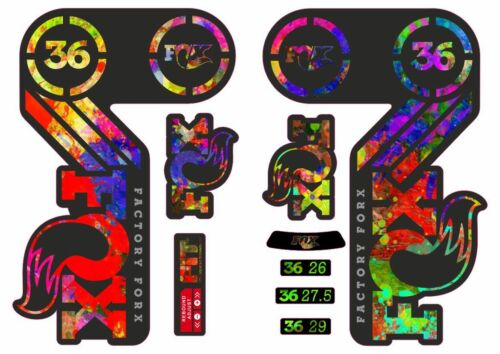 FOX 36 Heritage 2015 Fork Suspension Factory Decal Sticker Adhesive Oil Slick