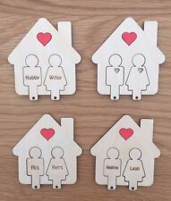 Wooden Key Ring Holder House Key Gift Man & Woman Key Hanger Wedding/Birthday