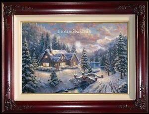 Thomas-Kinkade-High-Country-Christmas-18-034-x-27-034-G-P-Limited-Edition-Canvas