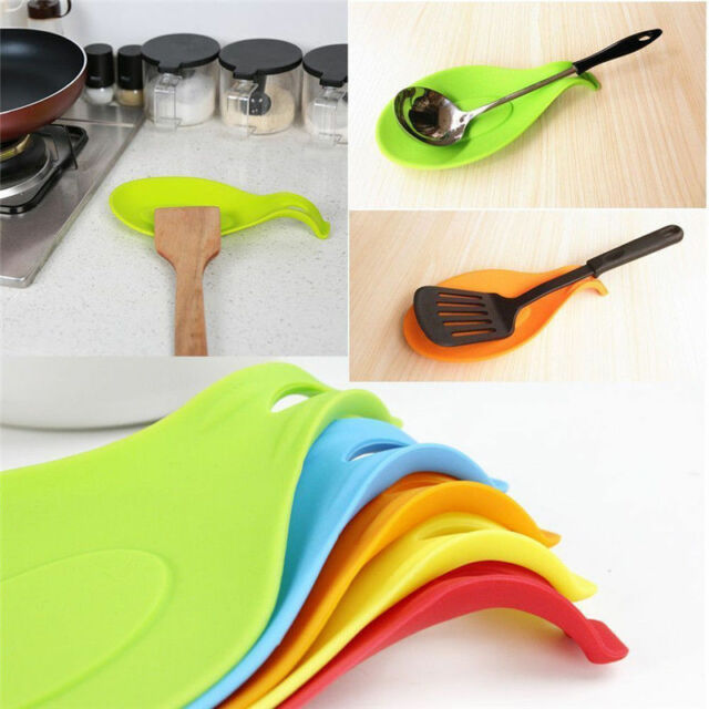 Kitchen Spoon Rest Heat Resistant Teabag Spatula Holder Dish Cooking New Tools
