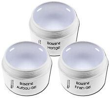 3er UV Gel Set Haftgel Aufbaugel Klar Mittel Versiegelungsgel je 5ml Nageldesign