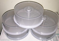25 Disc Capacity Empty CD/DVD/BD-R Spindle Storage Tub/Cake Box - 5 Pack