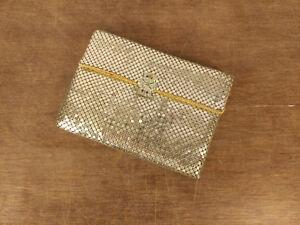 Designer-WHITING-amp-DAVID-Silver-Tone-Mesh-Elegant-Wallet-Purse-Evening-Sm-Clutch