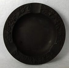 WEDGWOOD England china BASALT BLACK Ashtray - Round - 3-Slot - 5-1/4""