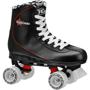 Roller-Derby-Men-039-s-Roller-Star-600-Quad-Skates-Black-Red