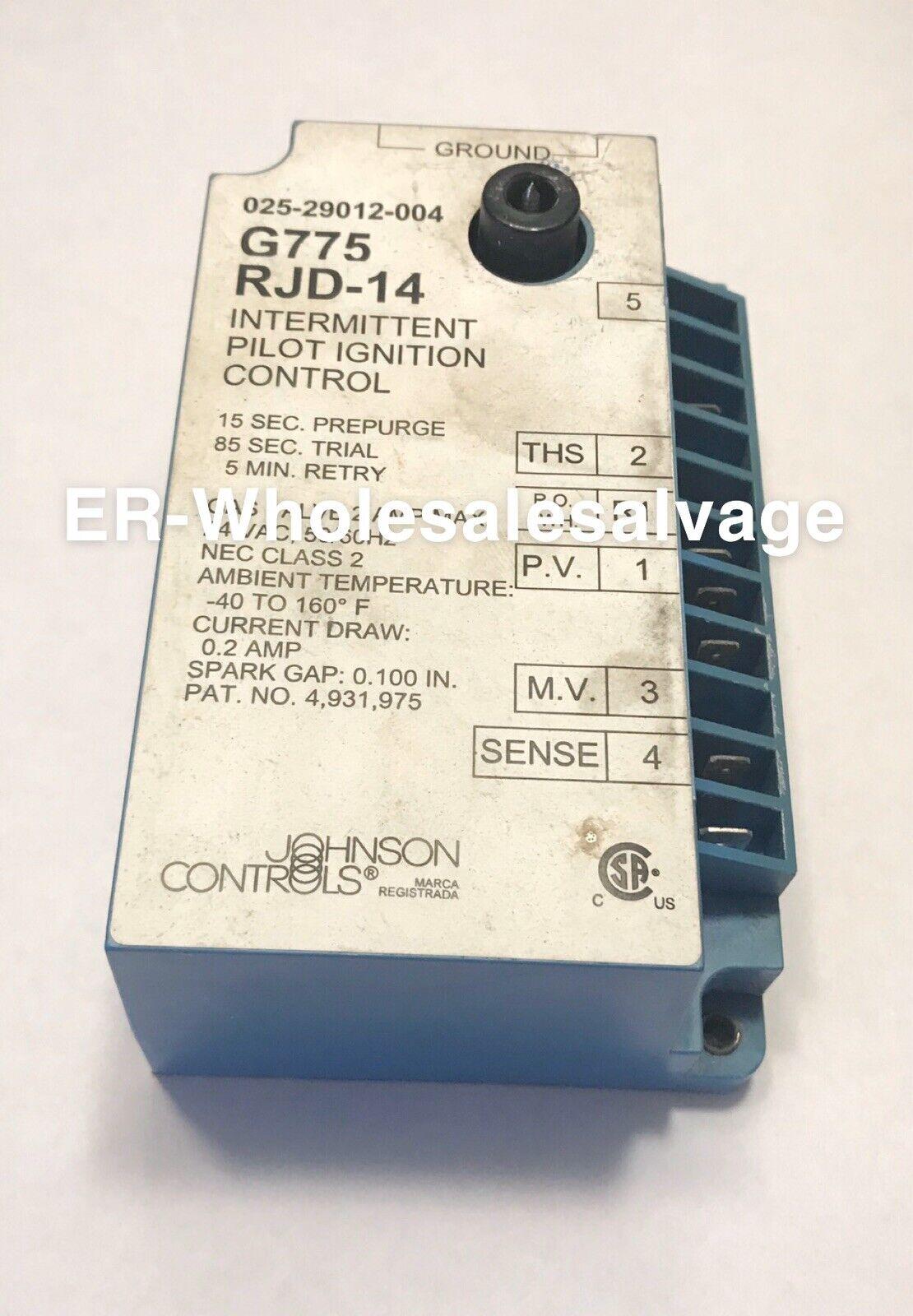 Johnson Controls Furnace Ignition Control Board G775RHA-1 G775RHA-2 G779