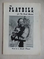 September 1957 - Booth Theatre Playbill - Visit To A Small Planet - Ritchard