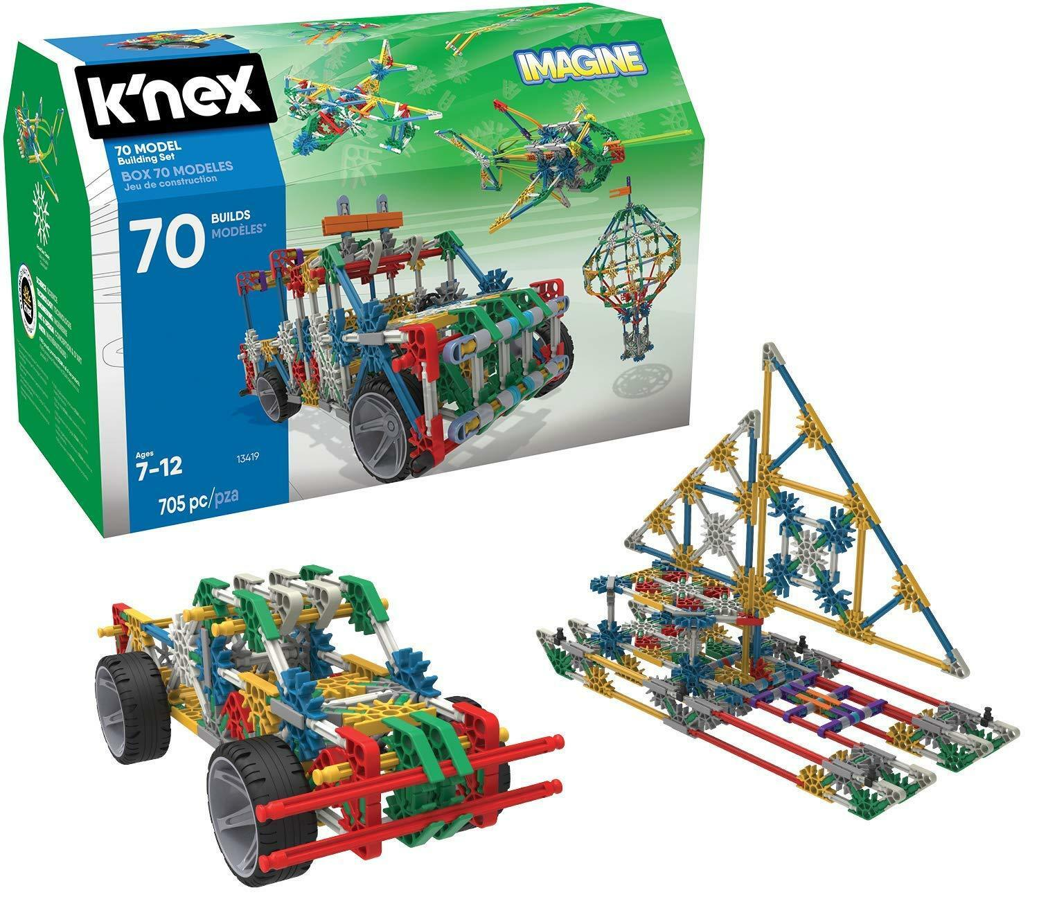 BN BOXED K'NEX Imagine 70 Model BUILDING SET,  Engineering 705 Pieces  7+