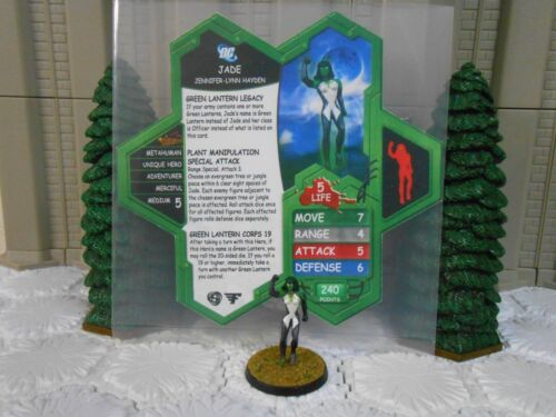 Heroscape Custom Green Lantern Jade Double Sided Card & Figure w/ Sleeve DC