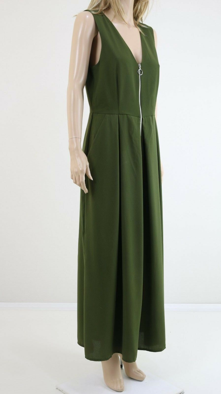 ASOS Women's Olive Green Party Jumpsuit with Ring Pull Detail RRP