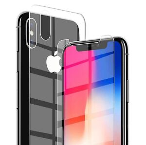 For-Apple-iPhone-XS-Max-XR-X-Front-and-Back-9H-Tempered-Glass-Screen-Protector