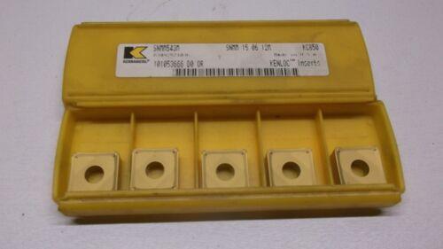 PACK OF 5 INSERTS Kennametal SNMM543M SNMM 15 06 12M KC850 KENLOC INSERTS