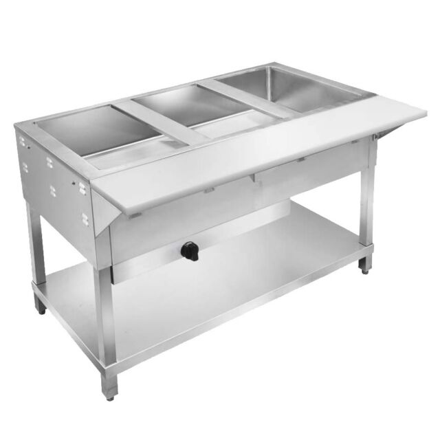 Klingers All Stainless Steel Well Gas Nat Or LP Steam Table Wet - 2 well steam table