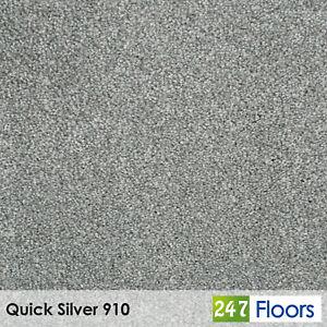 Quick Silver 910 Saxon King Saxony Carpet Actionback 12 5mm Pile 4m 5m Wide Ebay
