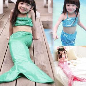 Ragazza coda di sirena swimmable costumi da bagno bikini nuoto wl ebay - Costumi da bagno ragazza ...