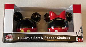 NEW-Disney-Mickey-Mouse-amp-Friends-Ceramic-Salt-amp-Pepper-Shakers-Mickey-Minnie