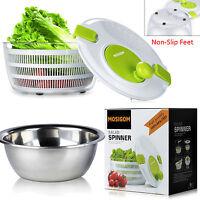Mosigom 5l Non-slip Salad Spinner With Steel Salad Bowl