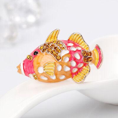 trendy tier fisch strass emaille brosche party ornamente | ebay