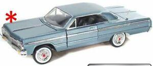 Chevrolet-Impala-1964-Light-Blue-Classic-Metal-Model-Car-Motormax-1-24