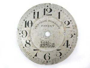 Antique-DIAL-SYSTEME-ROSKOPF-PATENT-LOCOMOTIVE-metal-Swiss-made-for-parts