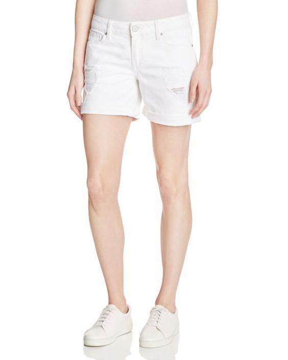 DL1961 Karlie Boyfriend Denim Shorts in Polar White SIZE 27         (E222)