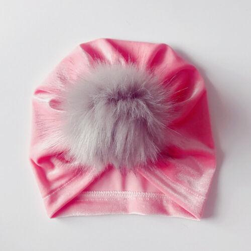 Winter Newborn Toddler Kids Baby Boy Girl Venonat Turban Beanie Hat Headdress JU