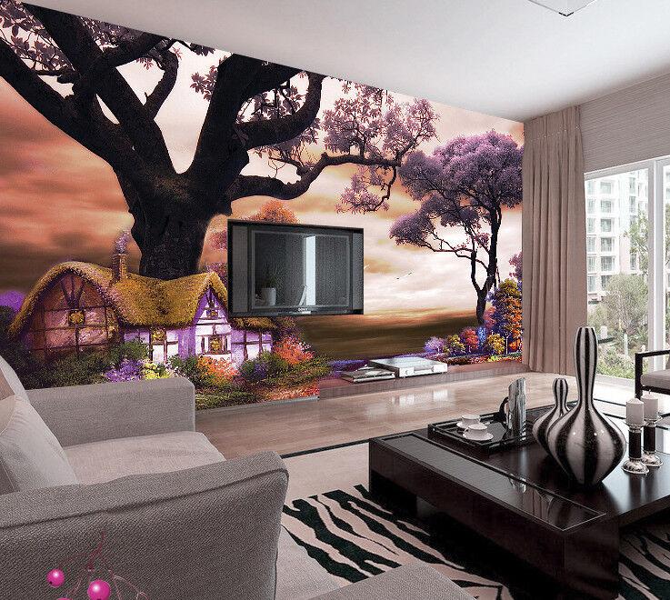 3D Süße Wald Häuschen 73 Tapete Wandgemälde Tapete Tapeten Bild Familie DE