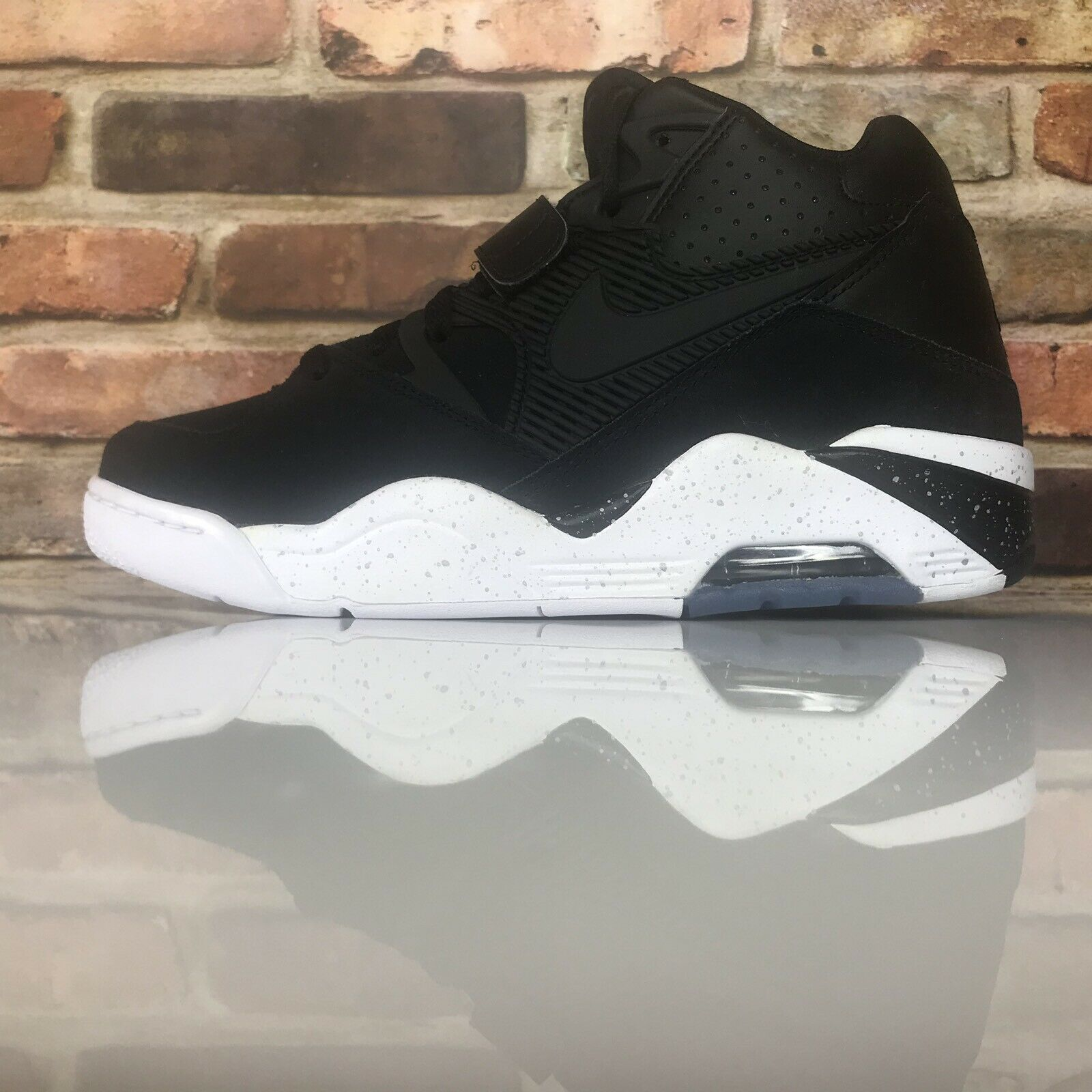 newest 3cdd3 1c69b Nike Air Force Force Force 180 Basketball shoes Black-White 310095-003  Barkley Size