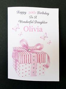 SISTER GRANDDAUGHTER FRIEND PERSONALISED HANDMADE BIRTHDAY CARD DAUGHTER