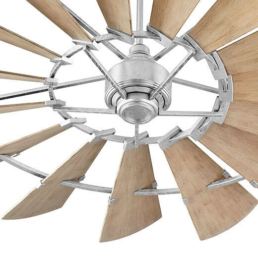 quorum windmill ceiling fan light quorum 1972159 windmill ceiling fan in galvanized with ul damp weathered ebay