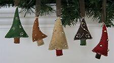 Christmas Ornament Felt Embroidery Kit Mini Trees Little Happy Holidays Makes 5