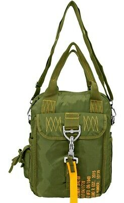 AC-USA Tactical Parachute Shoulder Bag Military Flight Style Utility Bag BLK*