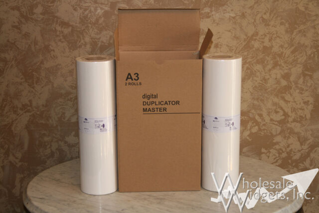 2 Masters Rolls Compatible With Riso S-3550 For Risograph RP3700 RP3790 RP08 A3