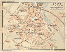 Carta geografica antica PRATO Pianta della città 1916 Old antique map