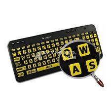 English US LARGE LETTERING Keyboard Sticker yellow