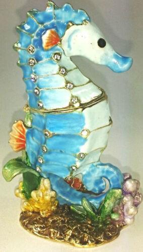 Seepferdchen Meer Pflanzen Geschenk Deko Figur Sammlerstück Schmuck Pillendose