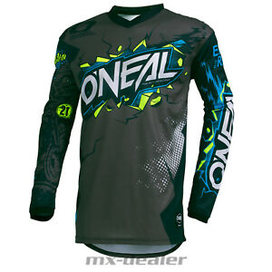 2019-o-039-Neal-Element-Villain-Grigio-Jersey-Jersey-Mx-Motocross-MTB-Dh-Enduro-Bmx