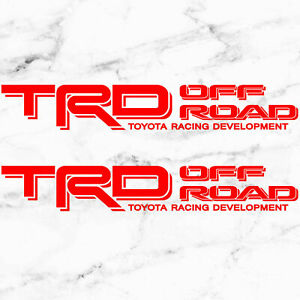 Toyota bed side TRD Off Road Tacoma Tundra decal sticker vinyl Set 1995-2004