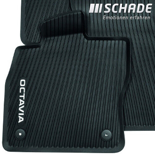 Original Skoda Gummifußmatten Set Fußmatten schwarz Octavia IV NX 5E4061500