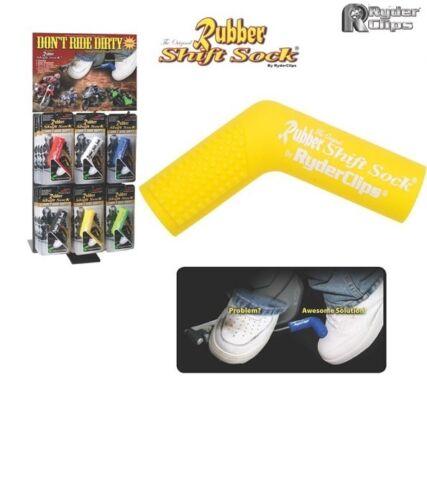 Motorcycle Rubber Shift Sock YELLOW Shoe Saver Cover Sportbike Cruiser Kawasaki